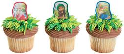 New Easter Cake Toppers Peter Rabbit Cupcake Rings One Dozen
