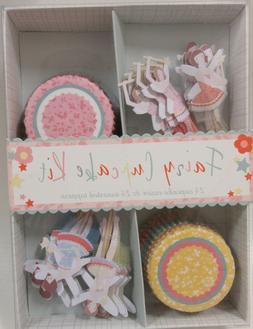 NEW Meri Meri Fairy Cupcake Kit 24 Cupcake Cases & 24 Assort
