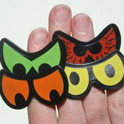 NEW Spooky Silly Plastic Monster Eye Ring Cupcake Toppers Ha