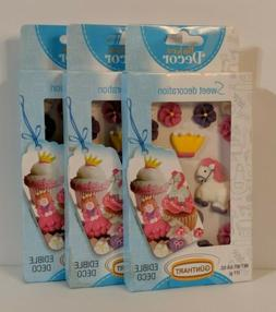 NIP Princess Themed Lot of  Packs Edible Sugar Cake/Cupcake