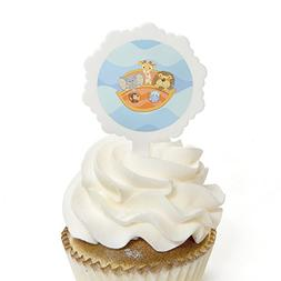 Noah's Ark - Cupcake Picks with Stickers - Baby Shower or Bi