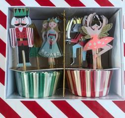 Meri Meri Nutcracker Cupcake Kit,Set includes 24 Cupcake Cas