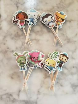 Octonauts Cupcake Toppers Kids Birthday Party Supplies Sea O