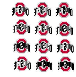 """Ohio State Buckeyes Cupcake Toppers Edible Image 2"""" Frosting"""