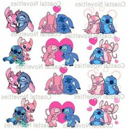 One Dozen Disney's Angel and Stitch Cupcake Toppers Edible I