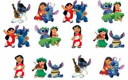 One Dozen Disney's Lilo and Stitch Cupcake Toppers Edible Im