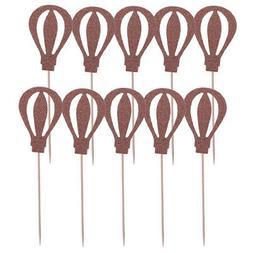 Pack of 10pcs Hot Air Balloon Cupcake Picks Cake Toppers Par