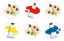 Painting Art Party Edible Cupcake Toppers Decoration