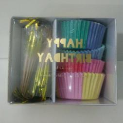 Meri Meri~Party Cupcake Kit~Happy Birthday~48 Liners~24 Topp