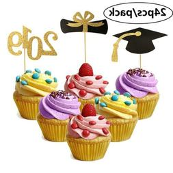 New Glitter Cupcake Toppers Mini Cake Decoration for Graduat