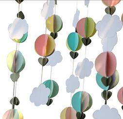 pastel clouds air balloons garland