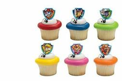 Paw Patrol cupcake rings  party favor cake topper 2 dozen