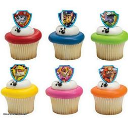 Paw Patrol Dogs CupCake Cake Topper 12 18 24 Favor Decoratio