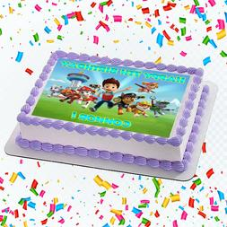 Paw Patrol Edible Icing Image Cake or Cupcake Topper Party D
