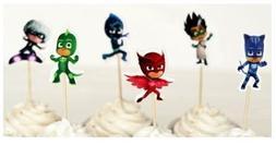 PJ Masks Cupcake Picks Set of 12