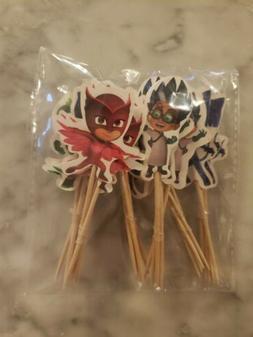 PJ Masks Cupcake Toppers Picks 24pcs Kids Birthday Party Sup