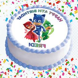 PJ Masks Edible Icing Image Cake or Cupcake Topper Party Dec