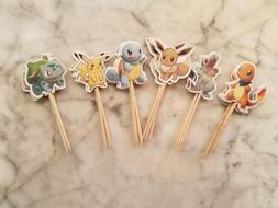 Pokemon Go Pikachu Cupcake Toppers Picks Kids Birthday Party