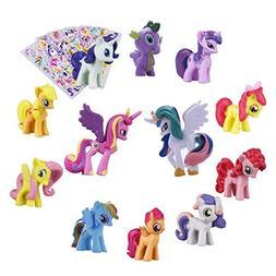 Pony Dolls, Pony Toys Figurines Playset,12pcs Kids Cupcake C