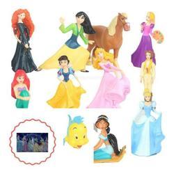 Princess Cake Cupcake Topper Kids Girl 12 Piece Stickers Par