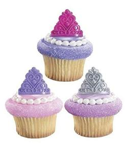 Princess Crown Cupcake Rings Cake Toppers Decorations Queen