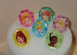 Princess,Disney,Gemstone Cupcake Rings,Cupcake topper,Bakery