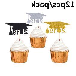 Props Party Supplies Cake Decor 2019 Graduation Cupcake Topp