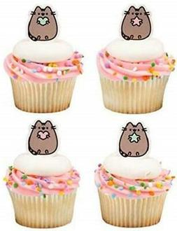 pusheen kitty cat cupcake toppers birthday party