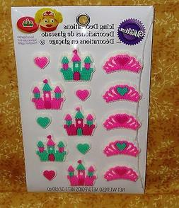 Queen,Castle,Hearts Icing Decorations,Cupcake Toppers,Edible