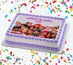 Ralph Breaks the Internet Princesses Edible Icing Image Cake