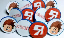 ROBLOX Cupcake Toppers Party Favor Rings 12ct  Birthday