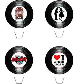 Rock and Roll Party Vinyl Collection 12 Edible Stand up wafe