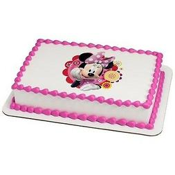 """8"""" Round - Minnie Mouse - Edible Cake/Cupcake Party Topper!!"""