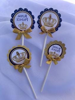 Royal Cupcake Toppers/Royal Prince cupcake toppers/ Royal bl