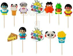 Ryans World Review Cupcake Toppers 12 or 24 pc. Made of Card