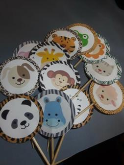 Safari Set Of 12 pcs Cupcake Toppers