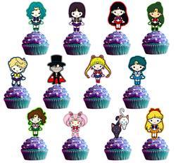 Sailor Moon Cupcake Topper
