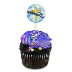 Savior Cross and Clouds Religious Inspiration Cake Cupcake T