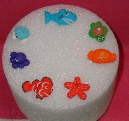 Sea Creatures, Edible cupcake Toppers, Royal Icing, Ocean an