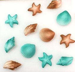 12pk Seashell Sand Water Beach Sea Creatures Star Fish Ready