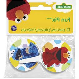 Wilton 2113-3470 12 Count Sesame Street Cupcake Toppers, Mul