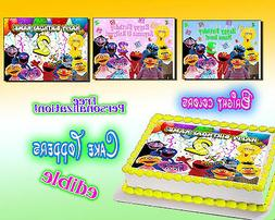 Sesame Street edible Cake toppers picture decal 1st Birthday