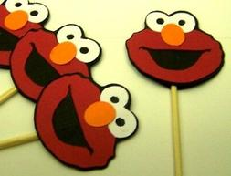 "Sesame Street Elmo cupcake toppers 2 x 2"" Elmo's World Party"