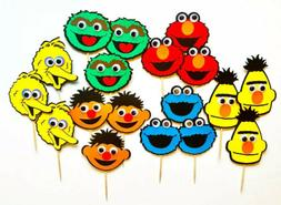 Sesame Street Googly Eyes Cupcake Toppers / Sesame Themed Bi