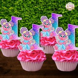 Set of 12 ABBY CADABBY Cupcake Toppers, Cupcake Picks, Cupca