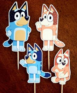 Set of 12 BLUEY Cupcake Toppers, Cupcake Picks, Cupcake Deco