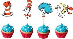 Cat in the Hat Book Set #2 Cupcake Toppers//Picks set of 24