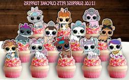 Set of 12 LOL Surprise Dolls Cupcake Toppers, LOL Surprise P