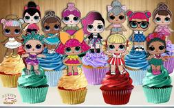 Set of 12 LOL Surprise Dolls Cupcake Toppers, Cupcake Picks,