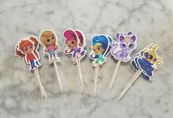 Shimmer and Shine Genie Cupcake Toppers Kids Birthday Party